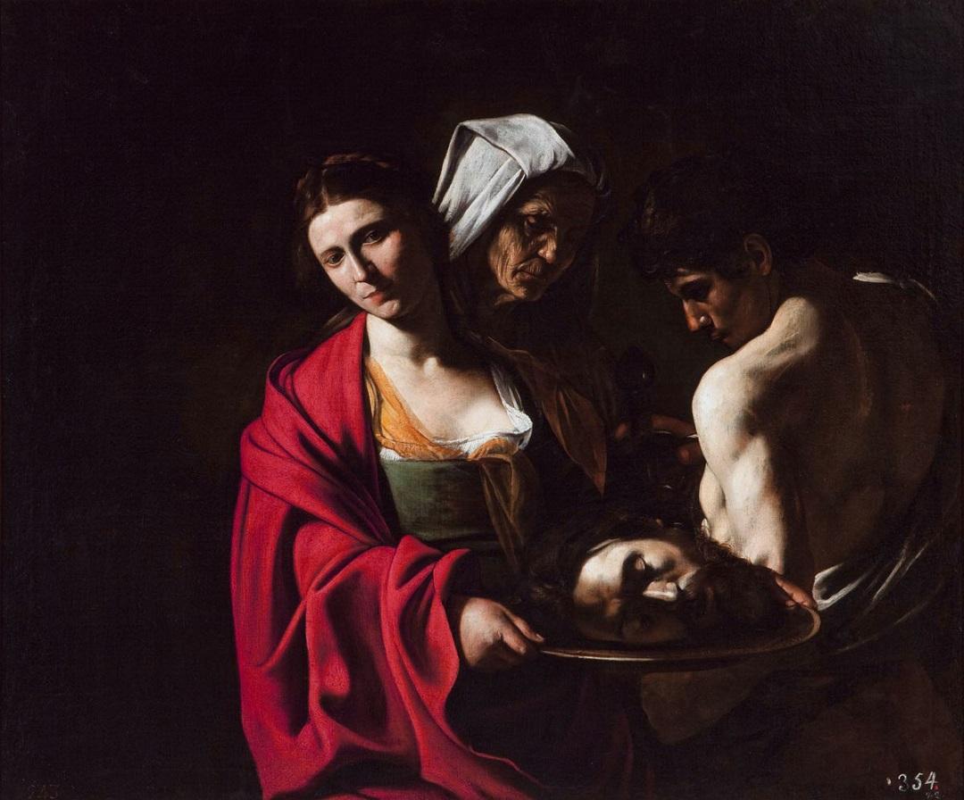 Salomé with the Head of John the Baptist *oil on canvas *114 x 137 cm *1606 - 1607